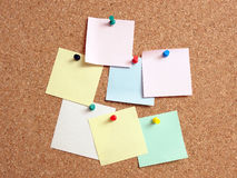 De nota's van de post-it Stock Afbeelding