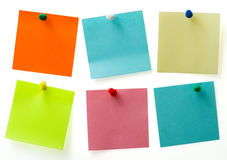 De nota's van de post-it Stock Foto's