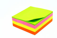 De Nota's van de post-it Royalty-vrije Stock Foto