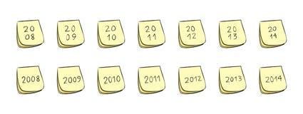 De Nota's van de Post-it van het jaar Royalty-vrije Stock Afbeelding