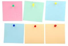 De nota's van de sticker Stock Fotografie