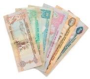 De nota's van dirham die op wit worden geïsoleerds Royalty-vrije Stock Fotografie
