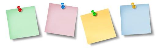 De nota's van het bureau over een muur Stock Fotografie