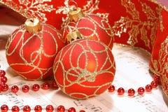 De nota's van het de hymneblad van Kerstmis Stock Afbeeldingen