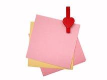 De nota's van het document Royalty-vrije Stock Afbeelding