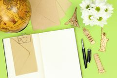 De nota's van het de zomermodel voor het reizen royalty-vrije stock foto
