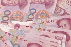 De nota's van Yuan Royalty-vrije Stock Foto