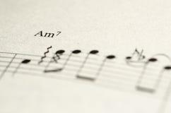 De Nota van de bladmuziek Royalty-vrije Stock Foto's