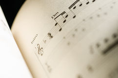 De Nota van de bladmuziek Royalty-vrije Stock Afbeelding