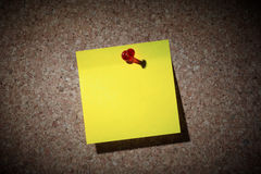 De nota van de herinnering. stock foto