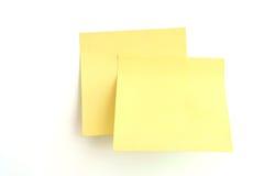 De nota van de herinnering, post-it!! Stock Afbeeldingen