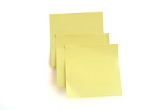 De nota van de herinnering, post-it!! Stock Fotografie