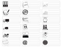 De nota van de het symboolsticker van het vervoerpictogram royalty-vrije illustratie