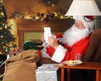 De Nota van de kerstman Stock Foto