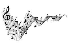 De nota van de muziek Stock Foto's