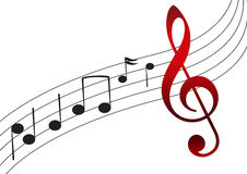 De Nota van de muziek vector illustratie