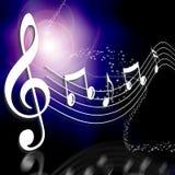 De nota van de muziek over een stadium royalty-vrije illustratie