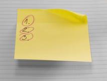 De nota van de post-it Stock Afbeelding