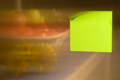 De nota van de post-it Stock Foto's