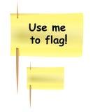 De nota van de post-it zoals vlag Stock Fotografie