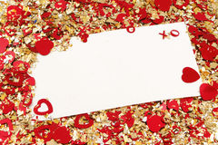 De nota van de valentijnskaart Stock Afbeeldingen