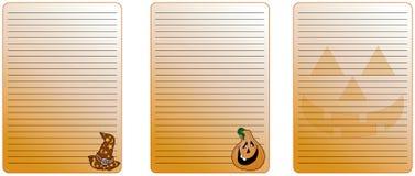 De nota van Halloween Stock Afbeelding