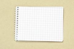 De nota van het document Stock Foto