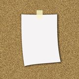 De Nota van het document royalty-vrije illustratie