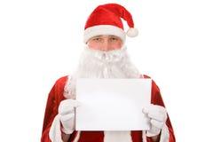 De nota van Kerstmis Stock Foto