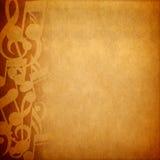 De notaachtergrond van de muziek Royalty-vrije Stock Foto's