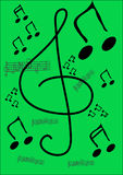De notaachtergrond van de muziek Royalty-vrije Stock Foto