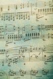 De notaachtergrond van de muziek Stock Afbeeldingen