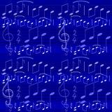 De notabehang van de muziek Stock Fotografie