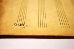 De notasleutel van de muziek royalty-vrije stock foto