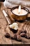 De noten en de boter van de sheaboom stock afbeeldingen