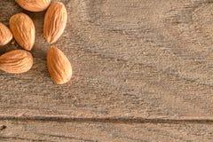 De noten van amandelen Stock Afbeelding