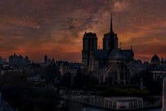 de notre巴黎贵妇人 免版税库存照片