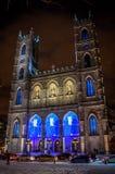 De Notre-Dame Bazylika Montreal Zdjęcia Royalty Free