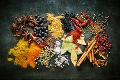 De nourriture toujours la vie des épices aromatiques et piquantes Photo libre de droits