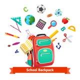 De nouveau à l'école Étudiant Backpack Images stock