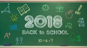De nouveau à l'école 2018 illustration libre de droits