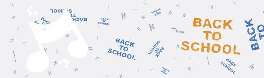 De nouveau à l'école Bannière de Web sur le sujet de l'éducation avec des modèles à l'arrière-plan Illustration plate ENV 10 Image libre de droits