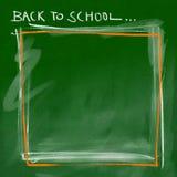 De nouveau à l'école - cadre graisseux vert Images stock