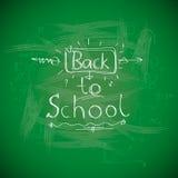 De nouveau à l'école, chalkwriting sur le tableau noir Photos libres de droits