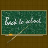 De nouveau à l'école, concept d'éducation vecteur, fond, dos, Photos libres de droits