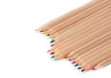 De nouveau à l'école, crayons Images stock