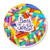 De nouveau à l'école Crayons colorés Photos stock