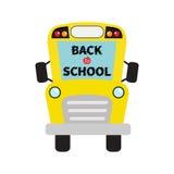 De nouveau à l'école Enfants jaunes d'autobus scolaire Clipart de bande dessinée illustration stock