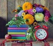 De nouveau à l'école 1er septembre, jour de la connaissance, teacher& x27 ; jour de s Photo stock