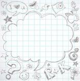 De nouveau à l'école - fond avec des graphismes d'éducation Photos libres de droits